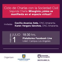 CHARLA MISOGINIA EN REDES SOCIALES